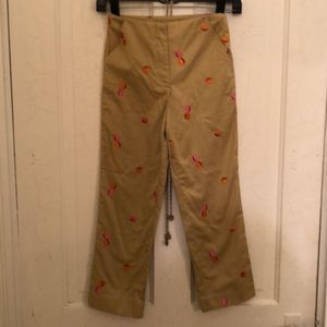 Lilly Pulitzer beige pink acorn girls pants 8